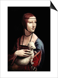 Portrait of a Lady with An Ermine Art by  Leonardo da Vinci