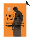 William Gillette as Sherlock Holmes: Farewell Appearance Plakater
