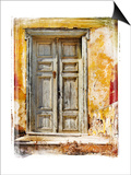 Old Traditional Greek Doors - Artwork In Painting Style Print by  Maugli-l
