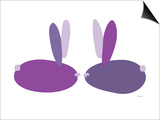 Purple Bunnies Poster by  Avalisa