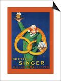 Bretzels Singer, Avec la Biere et la Vin Prints by  Lotti