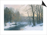 The Woods in Silver and Gold Print by Anders Andersen-Lundby