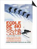 Ecole de Ski Print by Simon Garnier