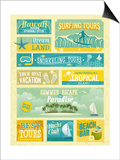 Vintage Summer Holidays And Beach Advertisements Print by  avean