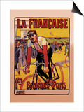La Francaise: Bordeaux-Paris Bicycle Race Posters by  Marodon