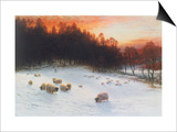 Winter Sunset Posters by Joseph Farquharson