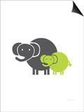 Lime Baby Elephant Posters by  Avalisa