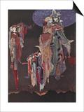 Monas and Una Art by Harry Clarke