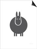 Charcoal Donkey Print by  Avalisa