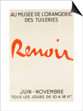 Poster: Renoir Musée De L'Orangerie in the Tuileries Poster