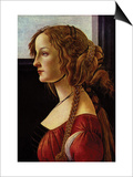 Portrait of Simonetta Vespucci Prints by Sandro Botticelli