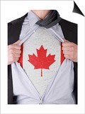 Business Man With Canadian Flag T-Shirt Art by  IJdema