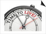 Time To Live Concept Clock Posters by  donskarpo