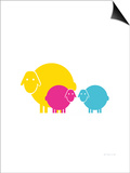 Multi Baby Sheep Art by  Avalisa