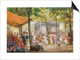 Parisian Flower Market Posters by Eugene Auguste Deully
