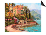 Lake Como Luxury Posters by Erin Dertner