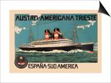 Austro-Americana Trieste Cruise Line Print