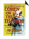 Cohen on the Telephone Prints by Joe Hayman