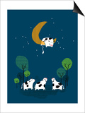 Over the Moon Print by Budi Kwan