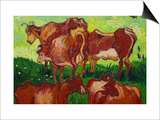 Les Vaches Posters by Vincent van Gogh