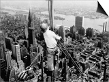 Construction for the Empire State Building's New 217 Foot Multiple Television Tower Art