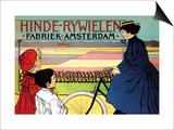 Hinde-Rywielen Factory in Amsterdam Poster von Johan Georg Van Caspel