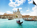 Grand Canal And Basilica Santa Maria Della Salute, Venice, Italy And Sunny Day Prints by Iakov Kalinin
