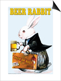 Beer Rabbit Print