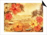 Tropical Vintage Beach Poster by  Vima