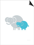 Aqua Baby Elephant Posters by  Avalisa