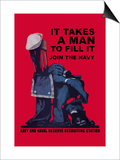 It Takes a Man to Fill It Poster by Charles Stafford Duncan