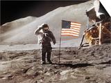 Apollo 15 Moonwalk 1971 Print