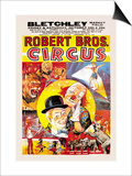 Robert Brothers' Circus at Bletchley Market Field Prints