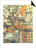 Walk by the River on an Autumn Day Prints by Eugene Chigot