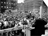 Malcolm X Harlem Rally Art by  Anonymous