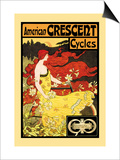 American Crescent Cycles Print by Fred Ramsdell