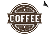 Vintage Fresh Coffee Label Stamp Posters by  daveh900