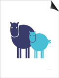 Blue Baby Horse Posters by  Avalisa