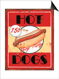 Hot Dogs Prints by Lesley Hallas