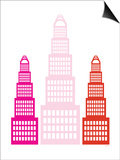 Pink Sky Scrapers Posters by  Avalisa