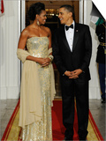 President Obama and First Lady before Welcoming India's Prime Minister and His Wife to State Dinner Art