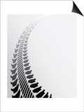 Tire Track Background Posters by  place4design