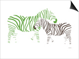 Green Zebra Prints by  Avalisa