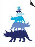 Blue Tritop Prints by  Avalisa