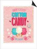 Vintage Cotton Candy Poster Posters by  avean