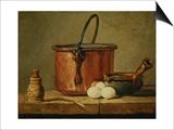 Still Life with Copper Vessel Print by Jean-Baptiste Simeon Chardin