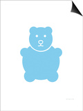 Blue Bear Poster by  Avalisa