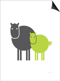 Lime Baby Horse Prints by  Avalisa