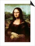 Mona Lisa, La Gioconda Kunstdruck von  Leonardo da Vinci
