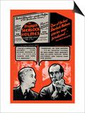 Triumph of Sherlock Holmes Print